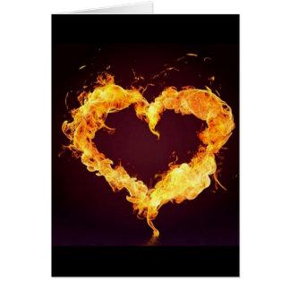 FIRE HEART GREETING CARD