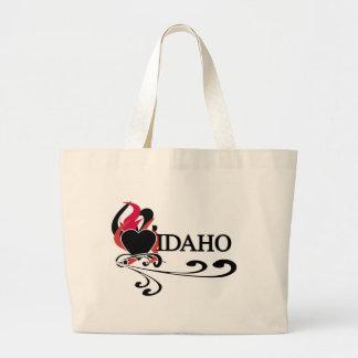 Fire Heart Idaho Canvas Bags