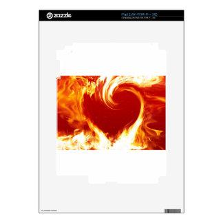 fire-heart iPad 2 decal