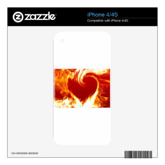 fire-heart iPhone 4 decals