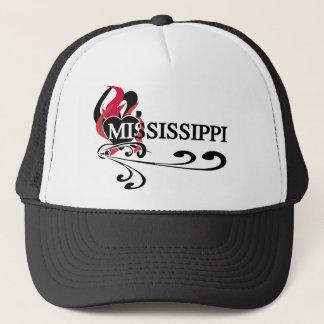 Fire Heart Mississippi Trucker Hat