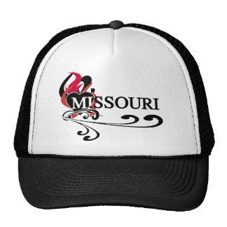 Fire Heart Missouri Trucker Hat