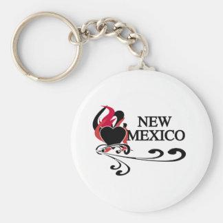 Fire Heart New Mexico Keychain