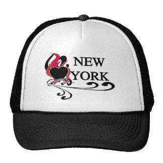 Fire Heart New York Trucker Hat