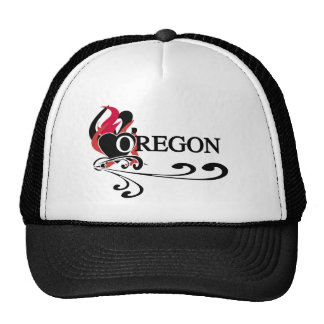 Fire Heart Oregon Trucker Hat
