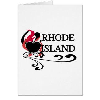 Fire Heart Rhode Island Greeting Card
