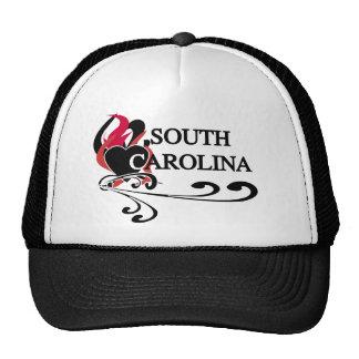 Fire Heart South Carolina Trucker Hat