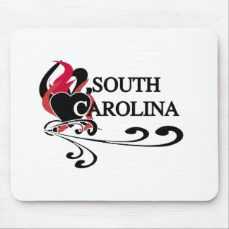 Fire Heart South Carolina Mouse Mat