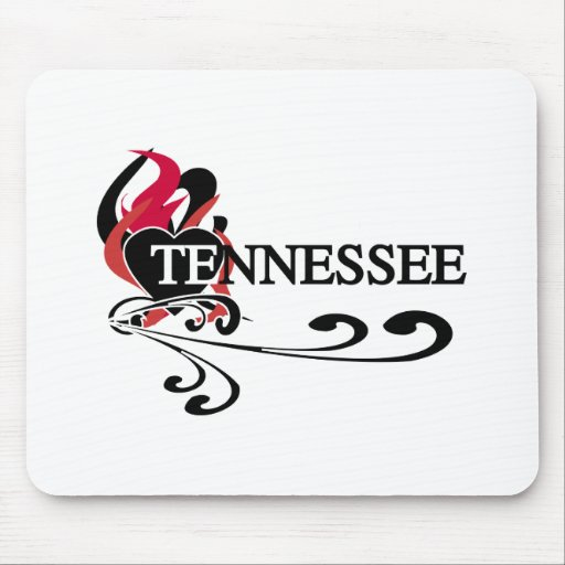 Fire Heart Tennessee Mouse Pad