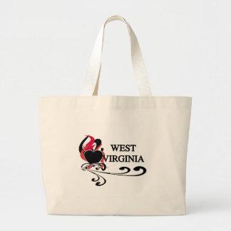 Fire Heart West Virginia Canvas Bags