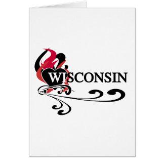 Fire Heart Wisconsin Card