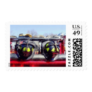 Fire Helmet and Boots Postage Stamp