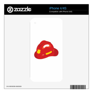 Fire Helmet Skins For iPhone 4S