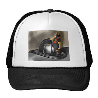 Fire Helmet Trucker Hat