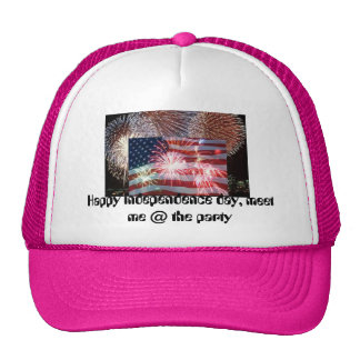 fire horse, american flag july 4th, Happy indep... Trucker Hat