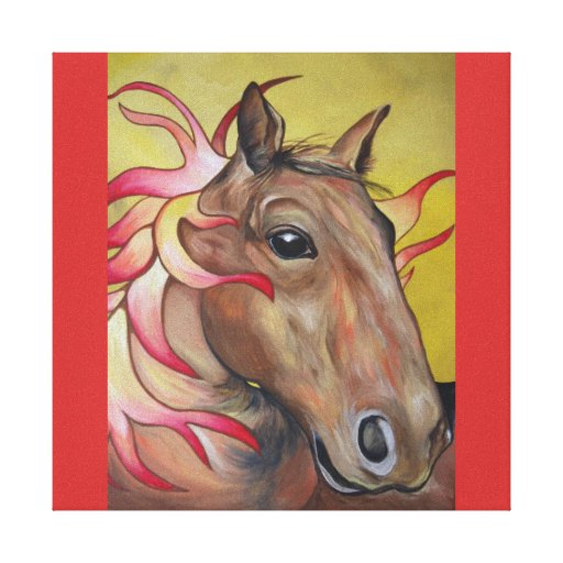 Fire Horse Canvas Prints