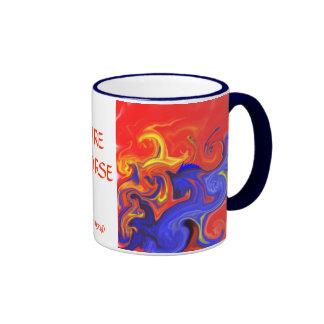 FIRE HORSE RINGER COFFEE MUG