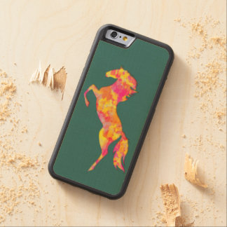 Fire horse silhouette abstract Phone wood case Carved® Maple iPhone 6 Bumper Case