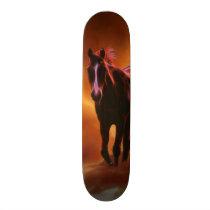 Fire horse skateboard