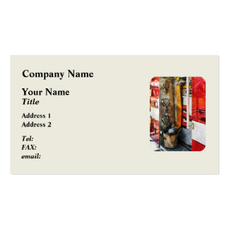 Fire Hose, Bucket and Nozzle Business Card Template