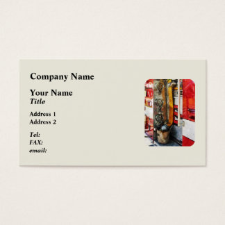 Fire Hose, Bucket and Nozzle Business Card