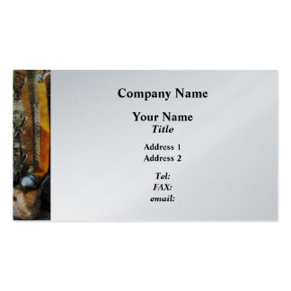 Fire Hose, Bucket and Nozzle  - Platinum Finish Business Card Template