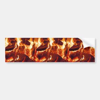 FIRE HOT EMBERS FLAMES RED ORANGE BLACK PHOTOGRAPH BUMPER STICKER