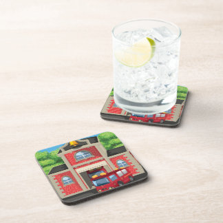 Fire House and Fire Truck Coaster