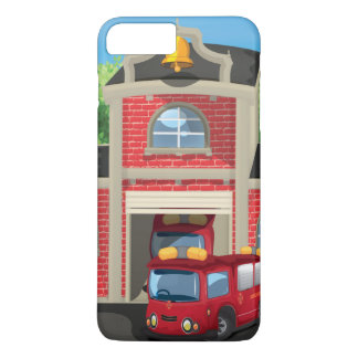 Fire House and Fire Truck iPhone 7 Plus Case