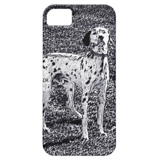 Fire House Dalmatian Dog in Black and White Ink iPhone 5 Cases
