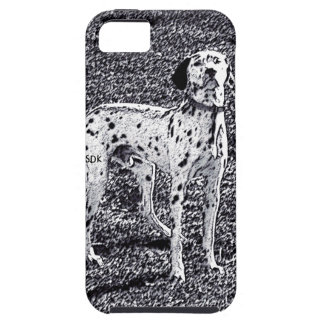 Fire House Dalmatian Dog in Black and White Ink iPhone 5 Cover