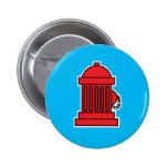 Fire Hydrant 2 Inch Round Button