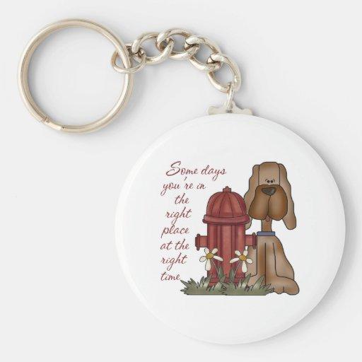 Fire Hydrant Dog Keychain