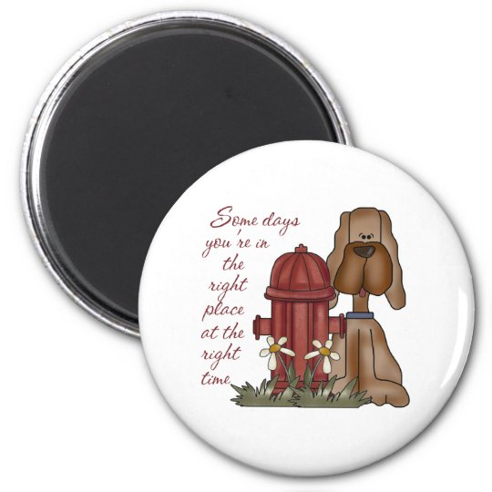 Fire Hydrant Dog Magnet