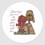 Fire Hydrant Dog Stickers