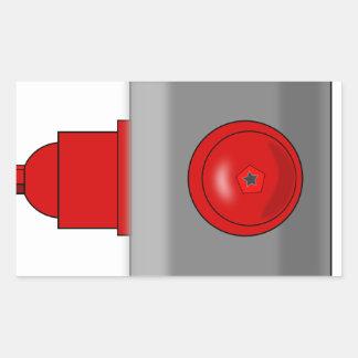Fire Hydrant Rectangular Sticker