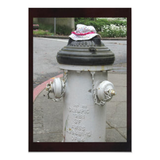 Fire Hydrant with Hat Card