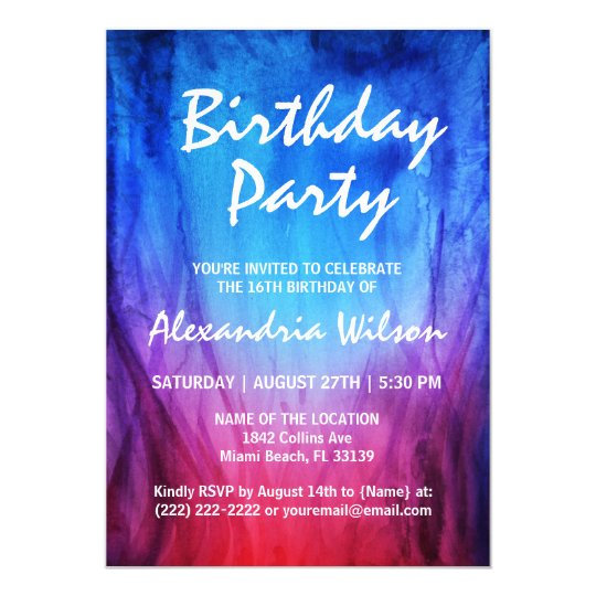 Fire Ice Birthday Invitations Blue Red Flames Zazzlecom