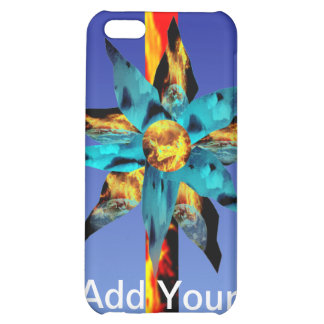 Fire & Ice Bloom and Flaming I-Phone 4 Case iPhone 5C Case