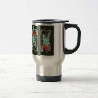 FIRE & ICE by SHARON SHARPE 15 Oz Stainless Steel Travel Mug