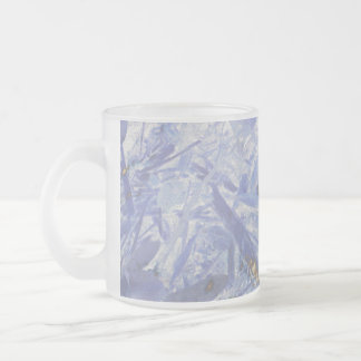 Fire & Ice, digital abstract Frosted Glass Coffee Mug