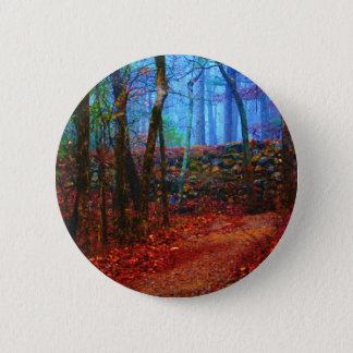 Fire & Ice Forest Oil Painting Gifts Apparel Pinback Button