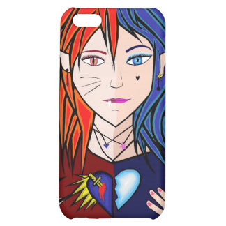 Fire Ice girl anime iPhone 5C Cover