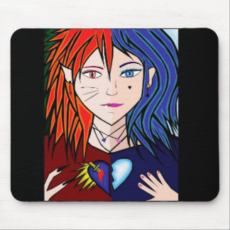 Fire Ice girl anime Mouse Pad
