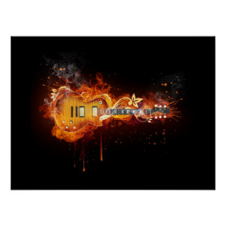 FIRE&ICE GUITAR POSTER
