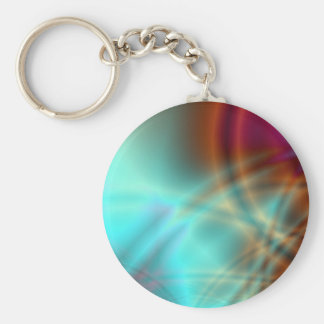 Fire & Ice - keychain Basic Round Button Keychain