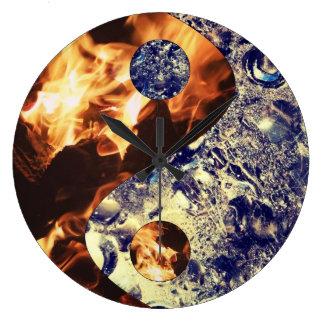 Fire & Ice Yin Yang Clock