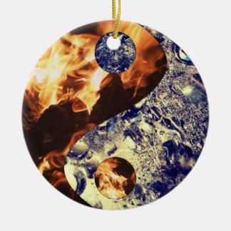 Fire & Ice Yin Yang Ornament