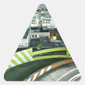 Fire Imbibed Triangle Sticker