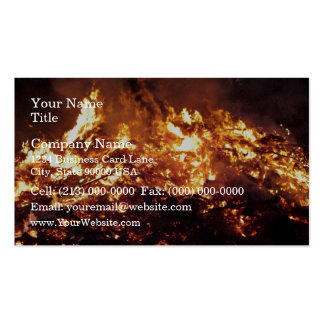 Fire in forest Double-Sided standard business cards (Pack of 100)